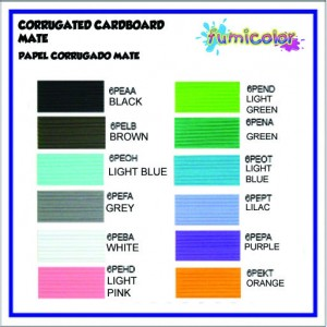 CORRUGATED CARDBOARD MATE COLORS