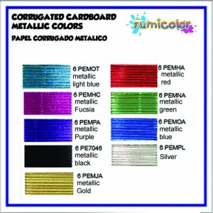 CORRUGATED CARDBOARD METALLIC COLORS