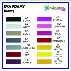 EVA FOAMY COLOR LIST 1