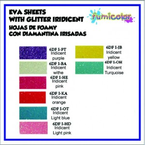 EVA SHEETS IRIDICENT COLOR LIST