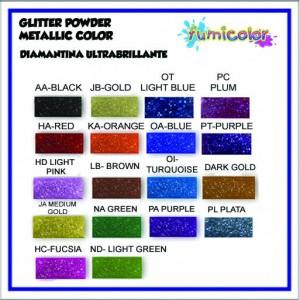 GLITTER POWDER METALIC COLORS