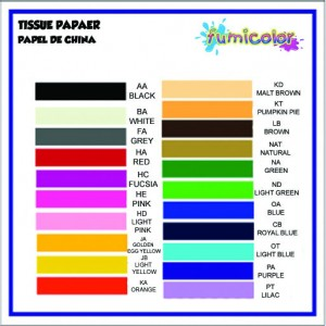 TISSUE PAPER COLOR LIST